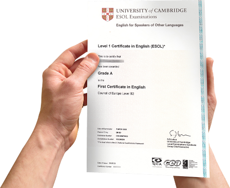 Certifikát Univerzity Cambridge a Oxford